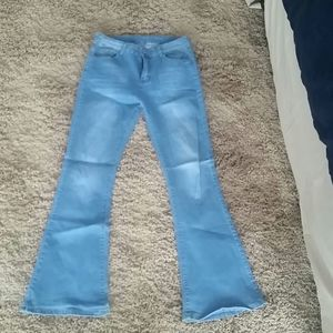 High waisted, flare jeans